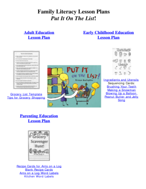 Family Literacy Lesson Plans Put It On The List - The Pennsylvania ... - pabook libraries psu