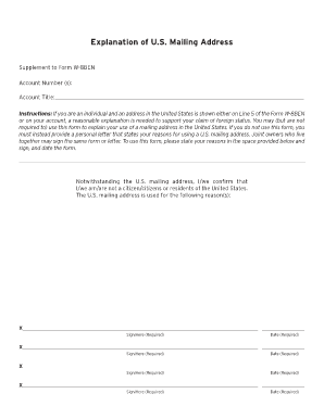Supplement To Form W 8ben Citibank - Fill Online, Printable