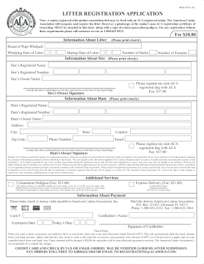 american canine association form