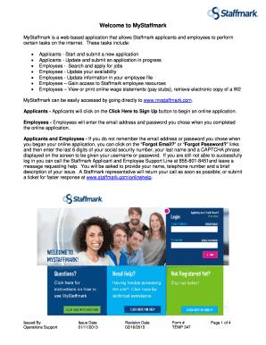 staffmark w2 Staffmark Job Application - Fill Online, Printable, Fillable, Blank ...