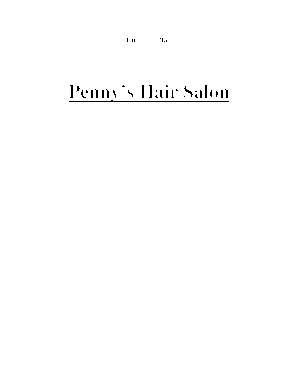 Elegant Hair Salon Business Plan Pdf
