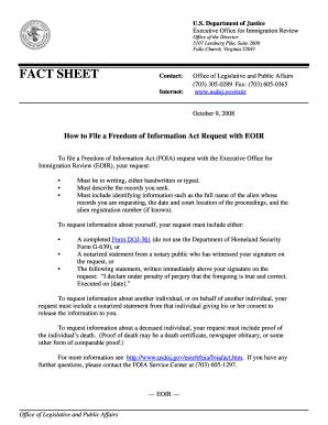 Eoir G 639 - Fill Online, Printable, Fillable, Blank | PDFfiller
