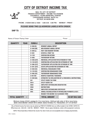 City Of Detroit Form Dw3 - Fill Online, Printable, Fillable, Blank ...