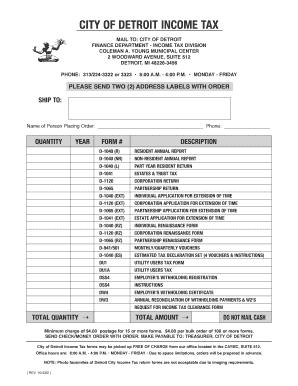 City Of Detroit Form Dw3 2013 - Fill Online, Printable ...
