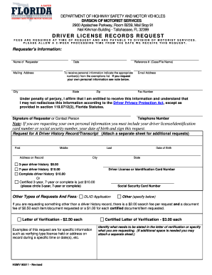 Driver License Check - Florida Department of Highway ...