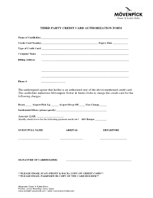 Blank 3rd Party Authorization Form - Calendar June