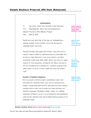 apa business proposal sample - Sample Business Proposal