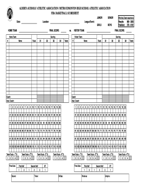 4+ free basketball score sheet samples small business resource.