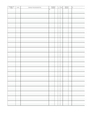 photograph regarding Printable Checkbook Ledger referred to as Checkbook Sign-up Template - Fill On the web, Printable