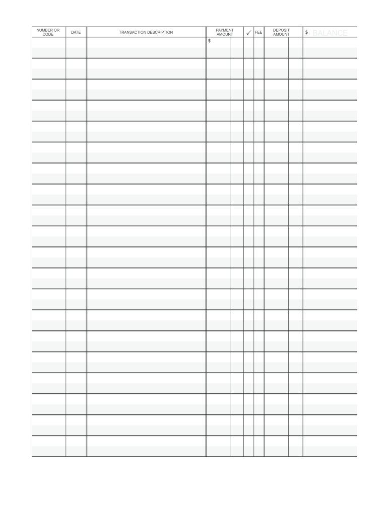 Printable Check Register Fill Online Printable Fillable Blank Pdffiller