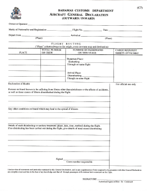 Fillable Online CBP Form 7507 - Forms Fax Email Print