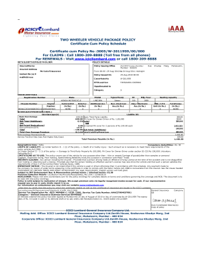fake bike insurance pdf  Bike Insurance Pdf - Fill Online, Printable, Fillable, Blank | PDFfiller