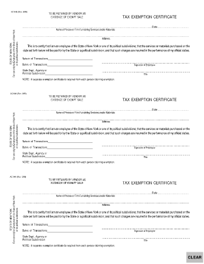 Fillable Online gse buffalo New York State Tax Exempt Form AC946 ...