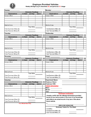 25 printable business mileage tracking log forms and templates