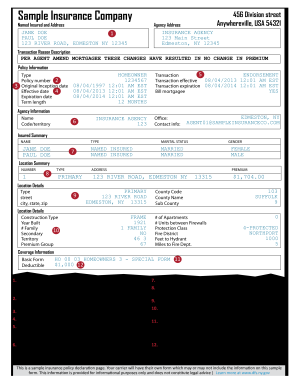 State Farm Insurance Card Template Fill Online Printable