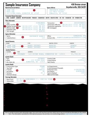 auto insurance declaration form template  Illinois Proof Of Auto Insurance Template - Fill Online, Printable ...