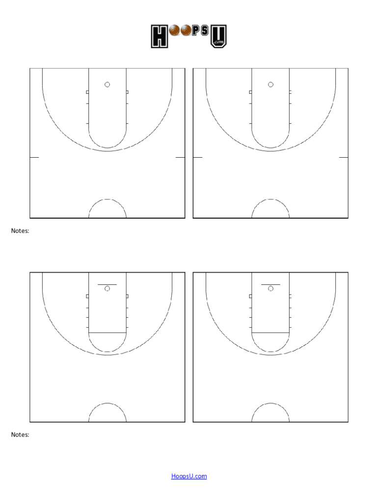Basketball Court Diagram Fill Online Printable Fillable Blank