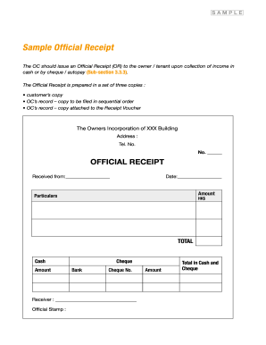 official receipt forms and templates fillable printable samples
