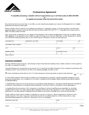 Forbearance Agreement Form - Great Lakes / Financial Aid ...