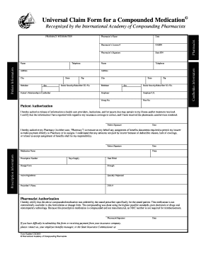 Compounding Universal Claim Form - Fill Online, Printable ...