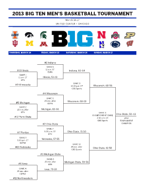 graphic about Printable Big Ten Tournament Bracket titled Nit Mens Bracket - Fill On line, Printable, Fillable, Blank