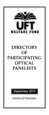 Fillable Online uft Directory of Participating Optical Panelists ...