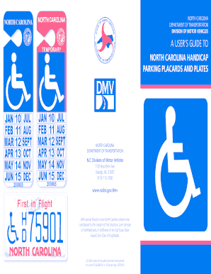Fillable Online ncdot DMV Brochure Handicap Placard 2010 05 ...