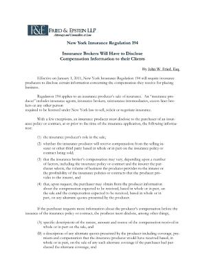 New York Regulation 194 Form - Fill Online, Printable, Fillable ...