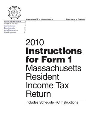 Form 1 Massachusetts 2010 - Fill Online, Printable, Fillable ...