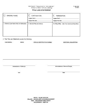 Fillable Online KENTUCKY TRANSPORTATION CABINET TC 96-187E Fax ...