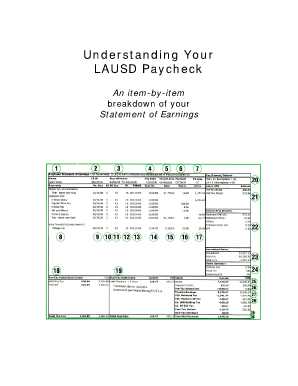lausd pay stub Understanding Lausd Paycheck - Fill Online, Printable, Fillable ...