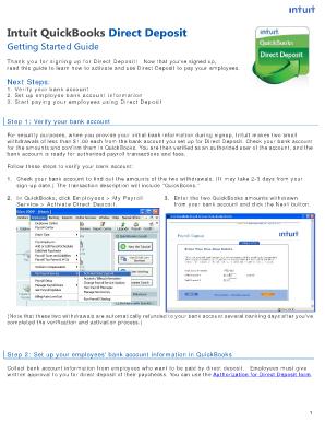 direct deposit authorization form intuit Templates - Fillable ...