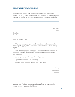 Sample letter to landlord to end tenancy 10 lease for End of tenancy letter template from landlord
