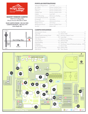 Fillable Online Skagit Mount Vernon Campus Map Skagit Valley