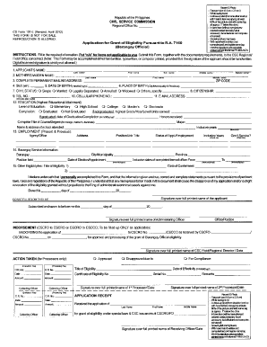 Cs Form 101 D Revised Sept 2013 - Fill Online, Printable, Fillable ...