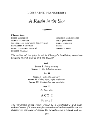 A Raisin In The Sun Full Text Doc Fill Online Printable Fillable