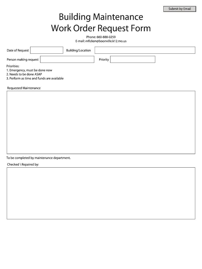 building maintenance request form