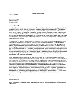Sample Cover Letter - History - University of Wisconsin Madison - history wisc