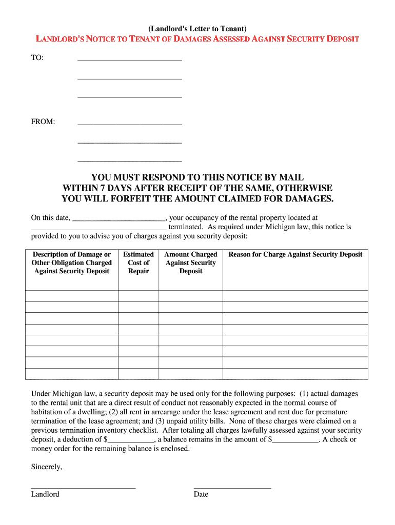 50 effective security deposit return letters [ms word] ᐅ template lab.