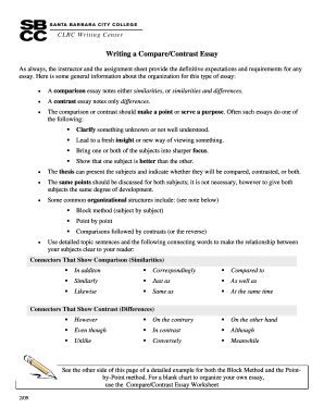 Compare and contrast essay about lifestyle