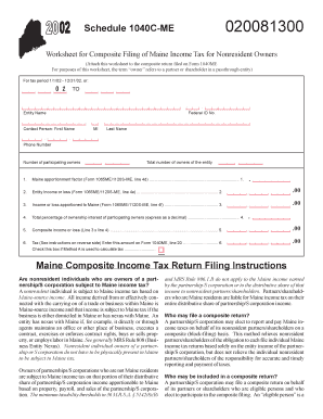 Fillable Online maine Schedule 1040C-ME Maine Composite Income Tax ...