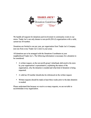 Trader Joes Sponsorship Fill Online Printable Fillable