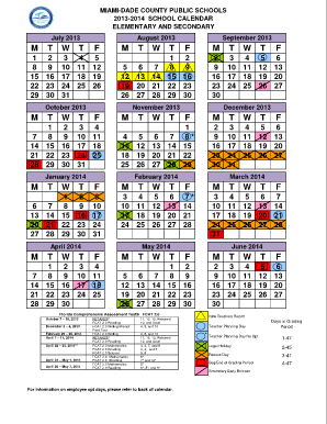 Miami Dade School Calendar 2014 To 2019 55 Printable Yearly Calendar 2016 Forms and Templates   Fillable