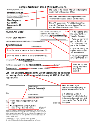 Florida Form Instructions