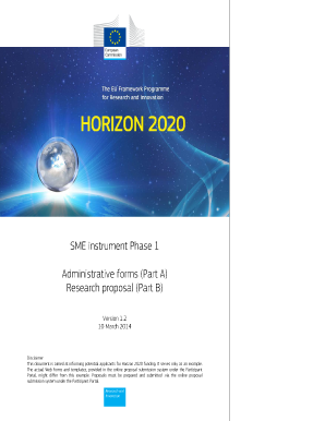 SME instrument Phase 1 Administrative forms - European Commission - ec europa