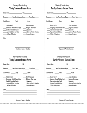 free printable doctor excuse forms