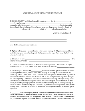 georgia residential lease agreement option purchase form