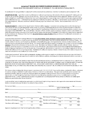jumpstreet waiver Fillable Online Colorado Waiver - Jumpstreet Fax Email Print - PDFfiller