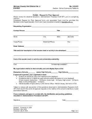 Business case for approval of a new commercial activity forms and flyer request form unit 5 unit5 thecheapjerseys Images