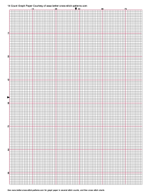 Printable Cross Stitch Chart Paper Form